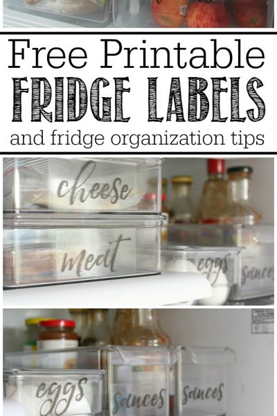 Great ideas to help you organize the fridge and free printable fridge labels. Love this!