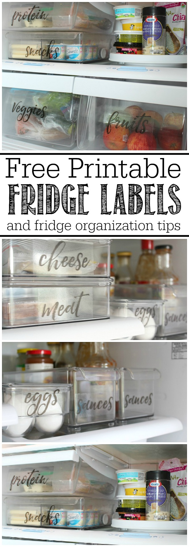photograph relating to Printable Freezer Labels titled No cost Printable Refrigerator Labels - Contemporary and Scentsible