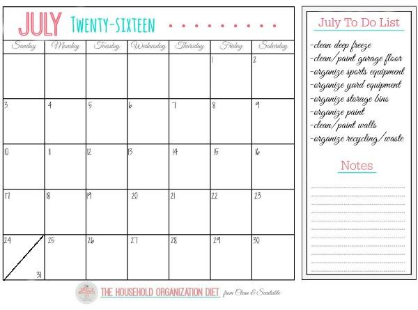 مهام تموز (يوليو) لتنظيم الأسرة الدايت - كيفية تنظيم المرآب