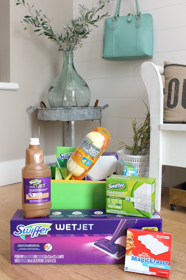 Package Up All Of Your Favorite Cleaning Supplies And A Few Fun Goodies For  A Practical