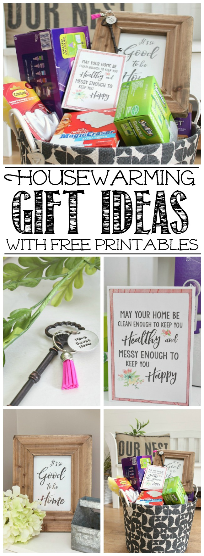 Housewarming gift ideas and free home printables clean Housewarming gift ideas
