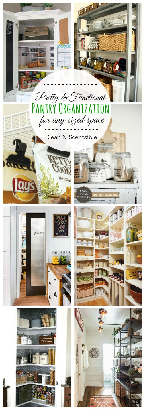 Great ideas to organize your pantry - pretty AND functional!