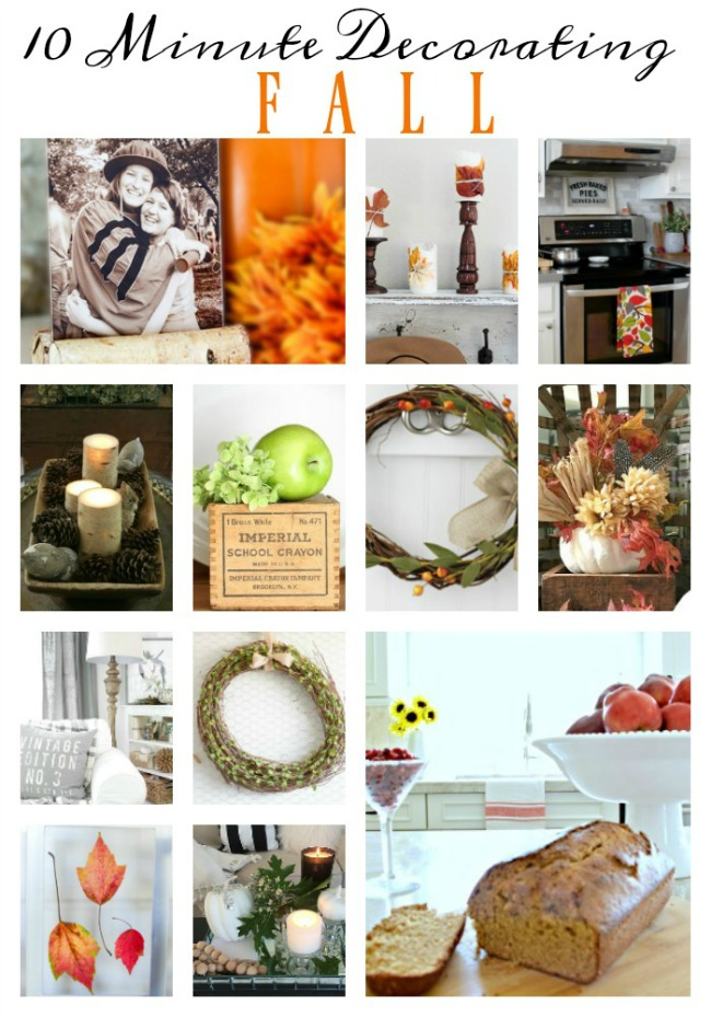 Beautiful ideas to decorate your home for fall - only 10 minutes required!