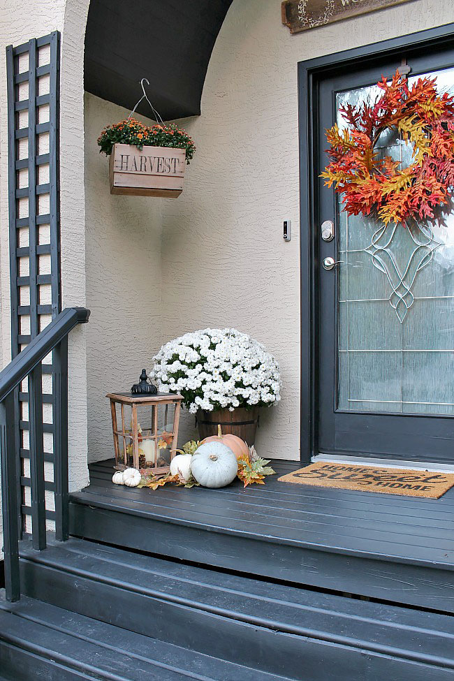 fall front porch clean and scentsible. Black Bedroom Furniture Sets. Home Design Ideas