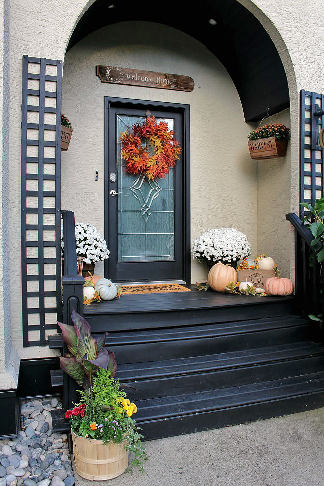 Fall front porch clean and scentsible - Fall decorating ideas for front porch ...