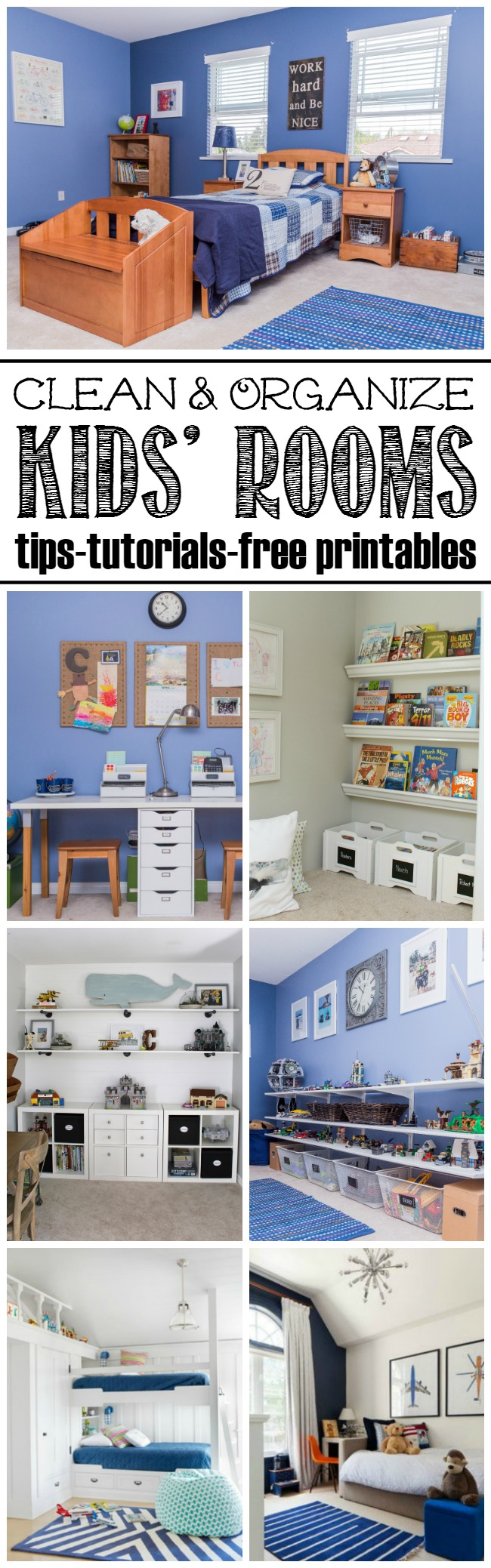 How to get your kids' rooms cleaned and organized. Free printables and lots of tips and tricks included!