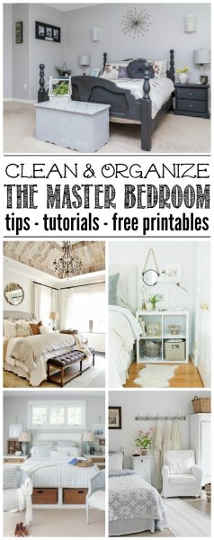 Master Bedroom Organization and Cleaning Tips - Clean and ...