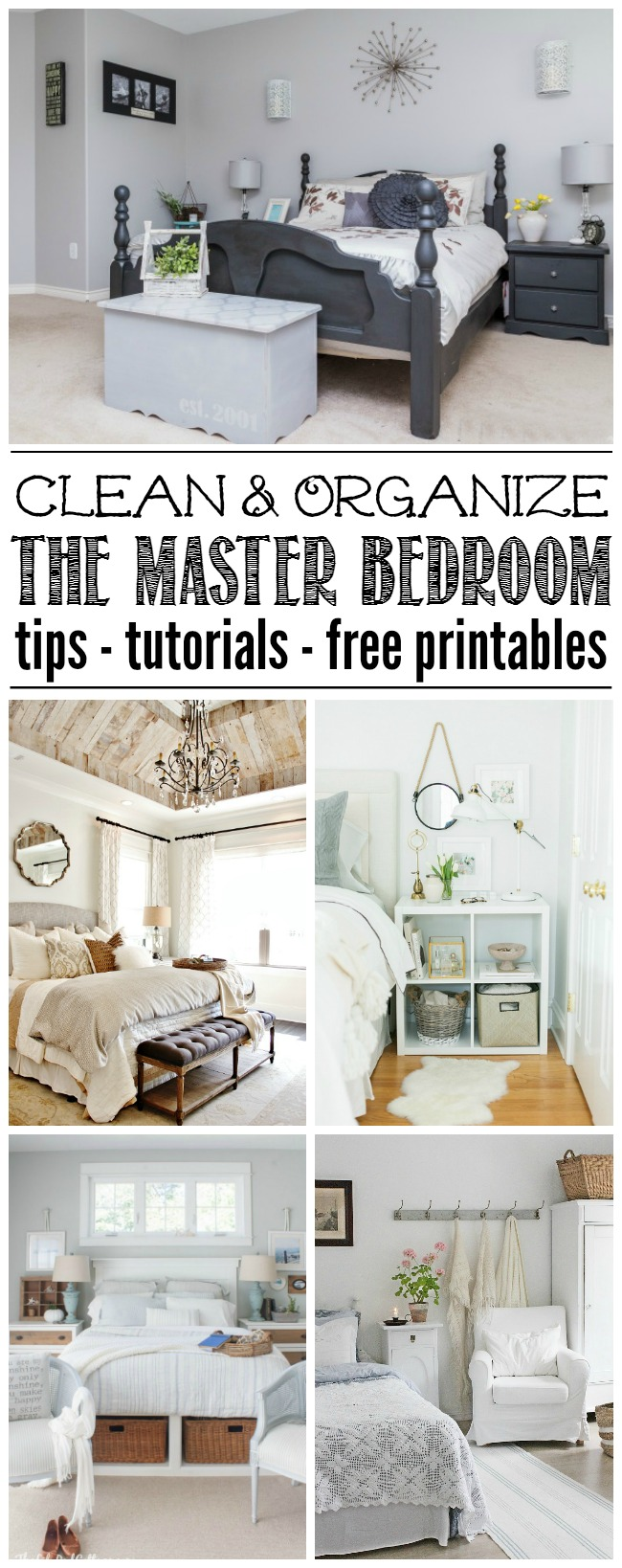 Master Bedroom Organization. Lots Of Ideas To Help You Get Your Master  Bedroom Cleaned And