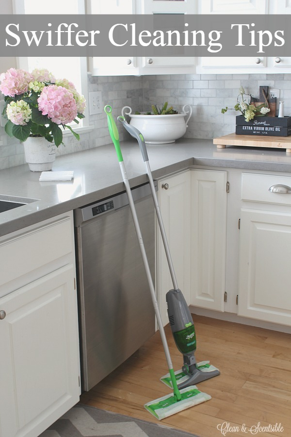 Quick and easy cleaning tips using Swiffer.