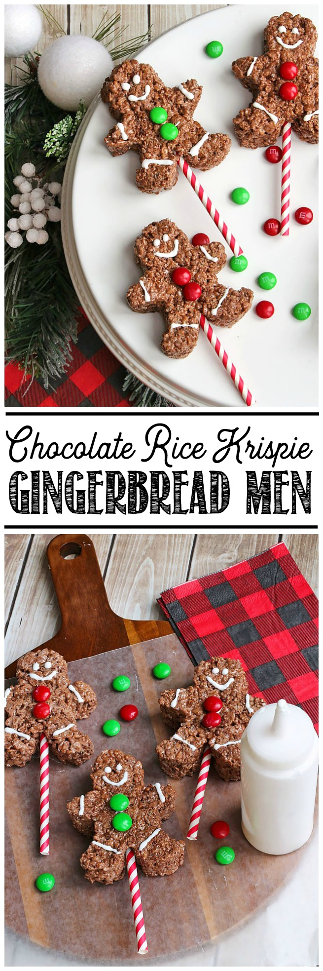 Chocolate Rice Krispie Treats Gingerbread