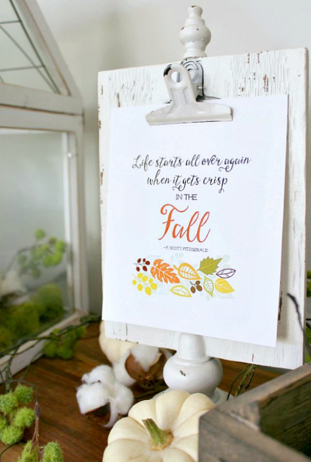 Pretty free fall printable.