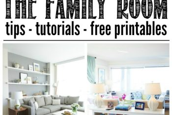 How to Organize the Family Room {November HOD}