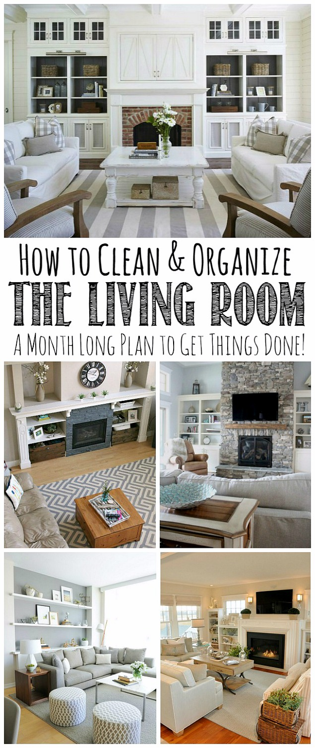 how to organize the family room november hod clean and scentsible. Black Bedroom Furniture Sets. Home Design Ideas