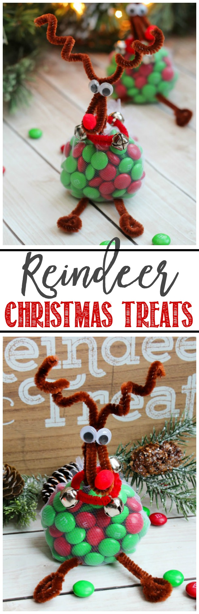 Reindeer treats. This easy Christmas craft is lots of fun for the kids and make cute little gifts or table toppers.