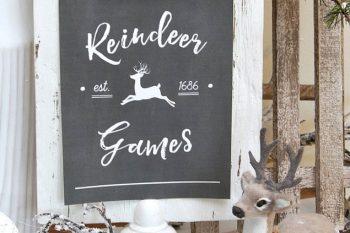 Reindeer Games Free Christmas Printables