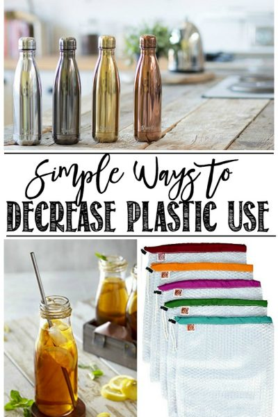 Simple ways to decrease plastic use in your household. It's easier than you think!