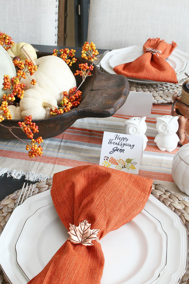 Thanksgiving Tablescape and Free Printable Thanksgiving ...