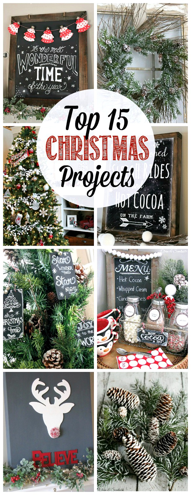Awesome collection of Christmas crafts and other Christmas projects. Must do these!
