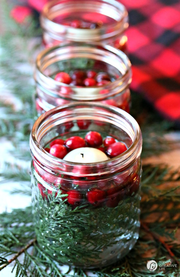 Mason jar christmas decorating ideas clean and scentsible - Simple christmas table settings ...