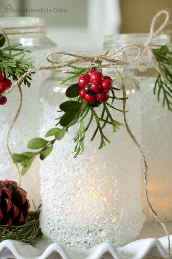 Inexpensive Holiday Decorating Ideas Part - 41: Simple Mason Jar Christmas Decorations. Quick, Easy, And Inexpensive!