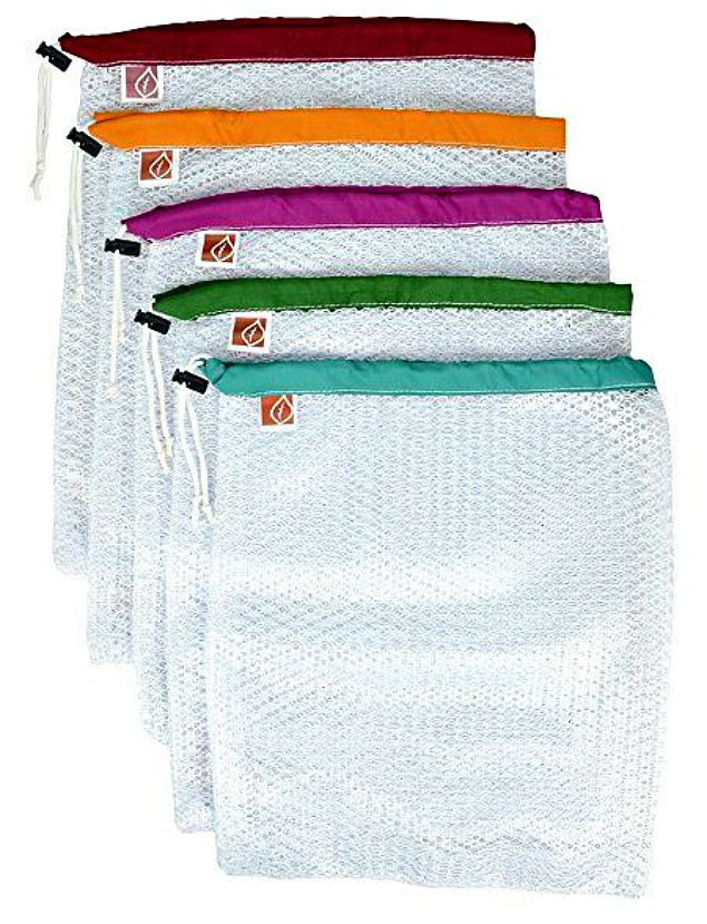 Mesh Produce Bags. Easy ways to help reduce the use of plastics.