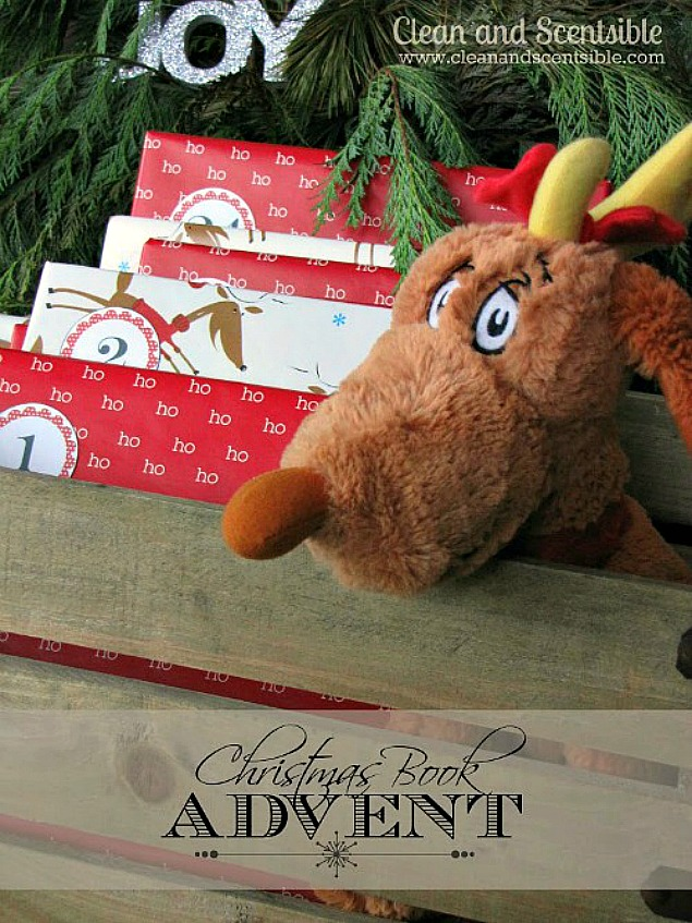 Christmas book advent with Christmas book ideas and free printables.