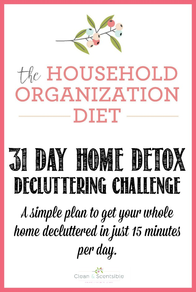 Everything you need to get started on a home decluttering challenge. Get your home decluttered and organized once and for all!