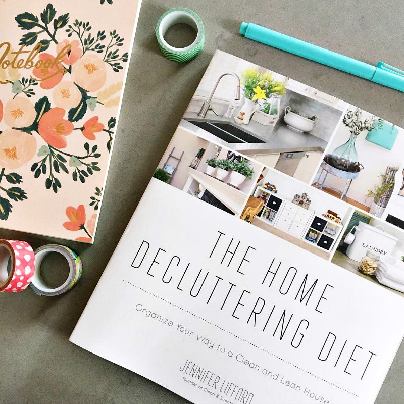 The Home Decluttering Diet. An easy step-by-step plan to get your home decluttered and organized once and for all!