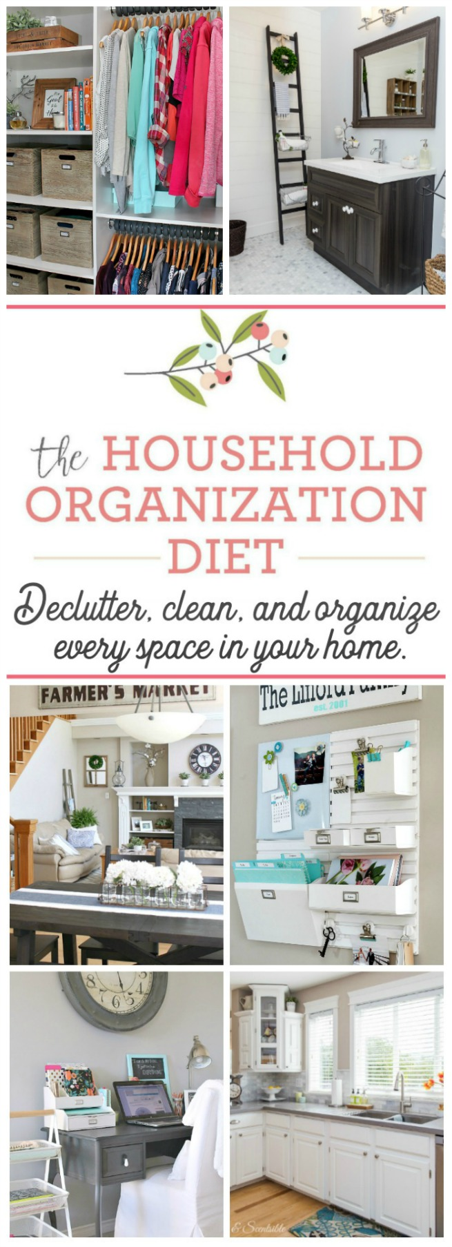Get your home cleaned, decluttered, and organized once and for all! This year long plan covers everything you need with monthly inspiration and free printables to keep you going.