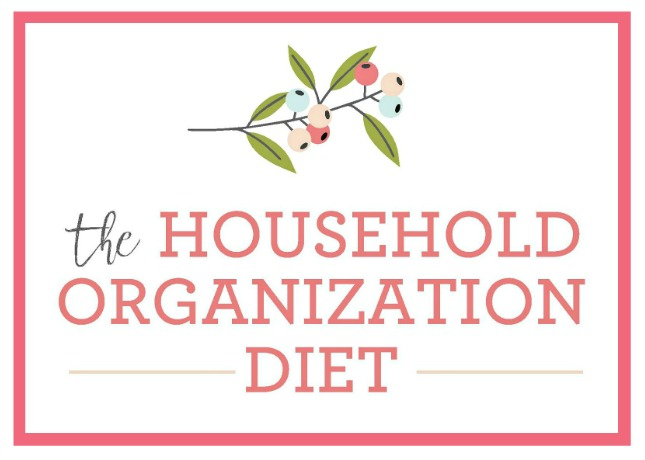 The Household Organization Diet logo. Learn how to get your whole home decluttered, cleaned, and organized!