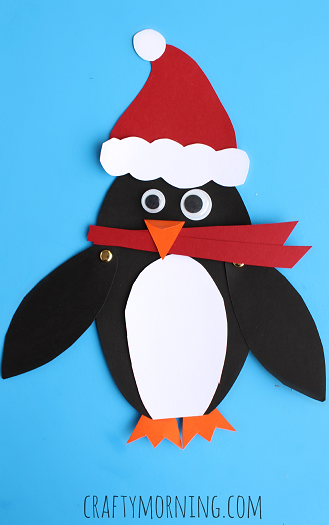 Penguin Christmas Cards Homemade.Kids Christmas Crafts Clean And Scentsible