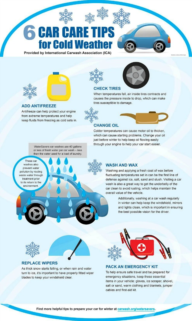 Stay safe this winter season and protect your vehicle with these car care tips for cold weather.