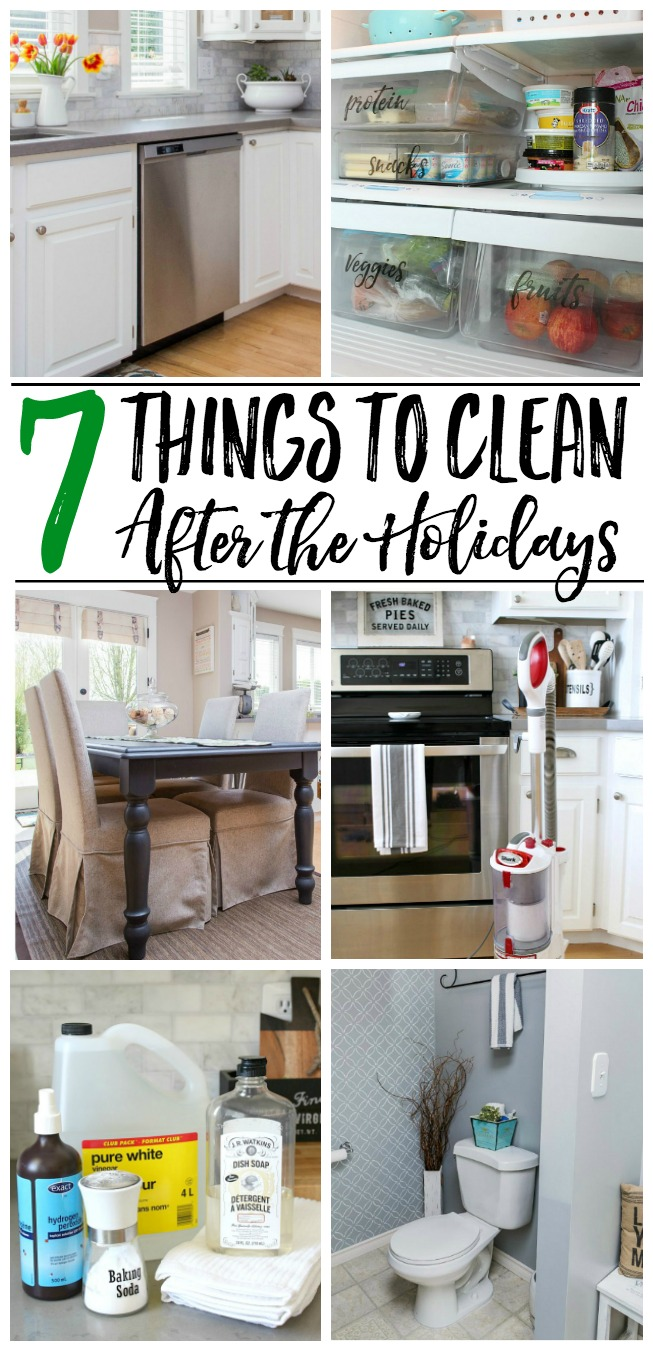 Don't forget to clean these items after the holidays! Cleaning tips and tutorials to get your house cleaned after the busy holiday season.