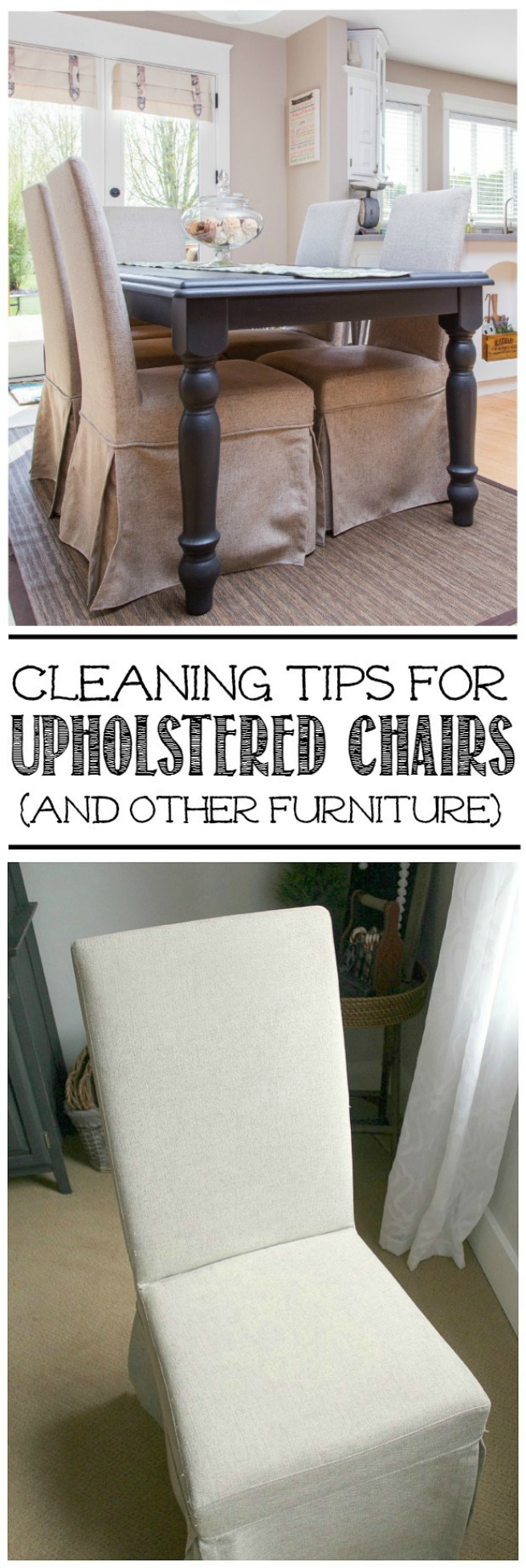 Tips and tricks for cleaning upholstered chairs and other furniture.
