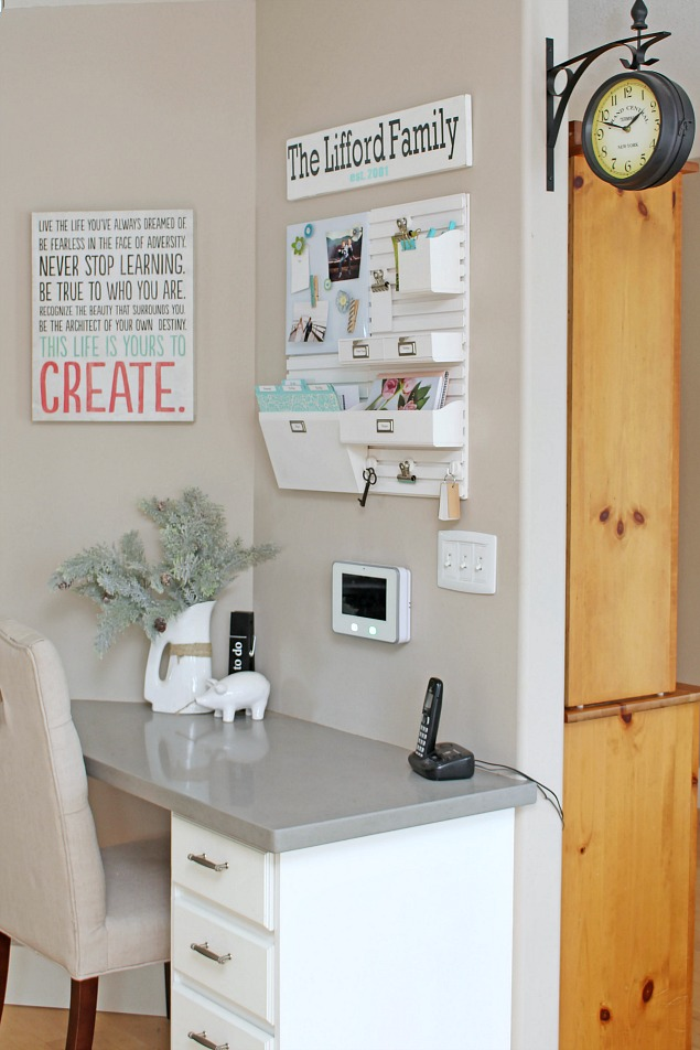 Great tips and ideas to organize a kitchen command centre.