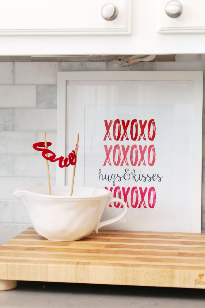 Add some simple Valentine's Day decor with these cute Valentine's Day printables.