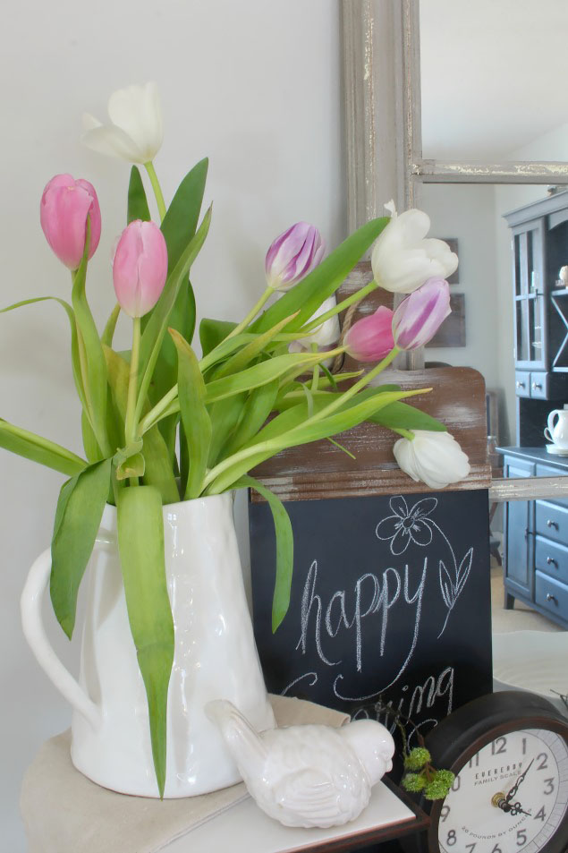 Quick and easy spring decor ideas.