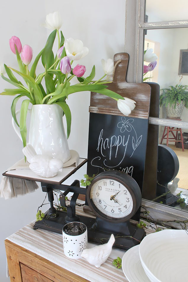 Quick and simple spring decorating ideas.