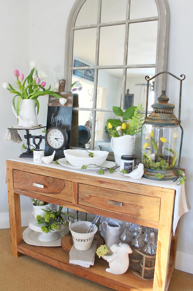 Quick and easy spring decorating ideas.