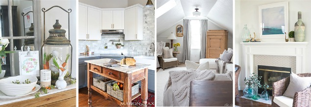 Collection of beautiful spring home tours.
