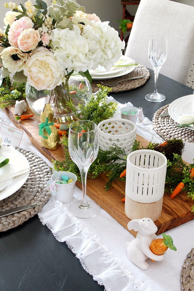 Easter dining room and tablescape decorating ideas