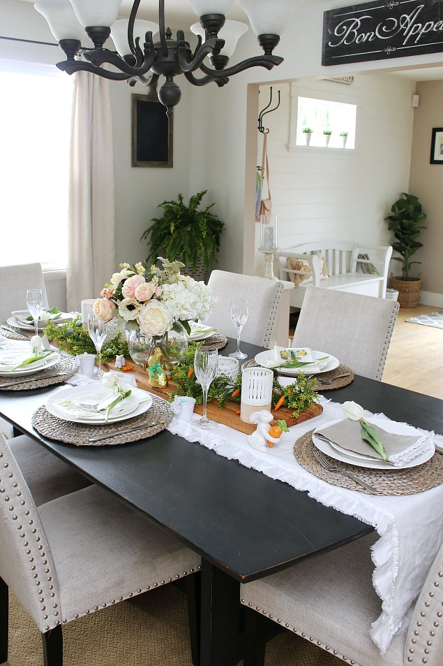 Easter Dining Room And Easter Tablescape Decorating Ideas Clean And Scentsible