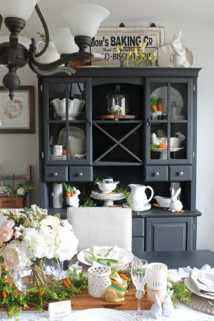 Easter Dining Room and Easter Tablescape Decorating Ideas
