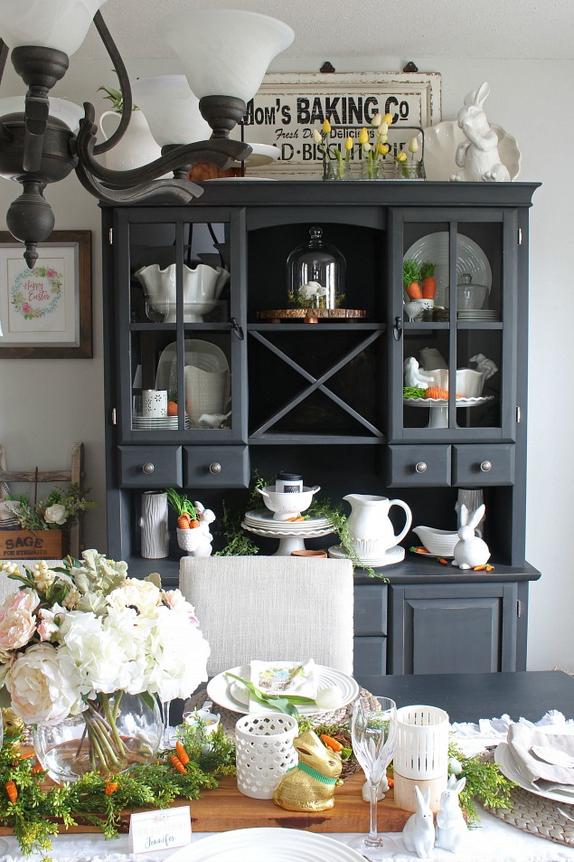 Spring Home Tour. Beautiful Easter And Spring Decorating Ideas For The  Dining Room With Free