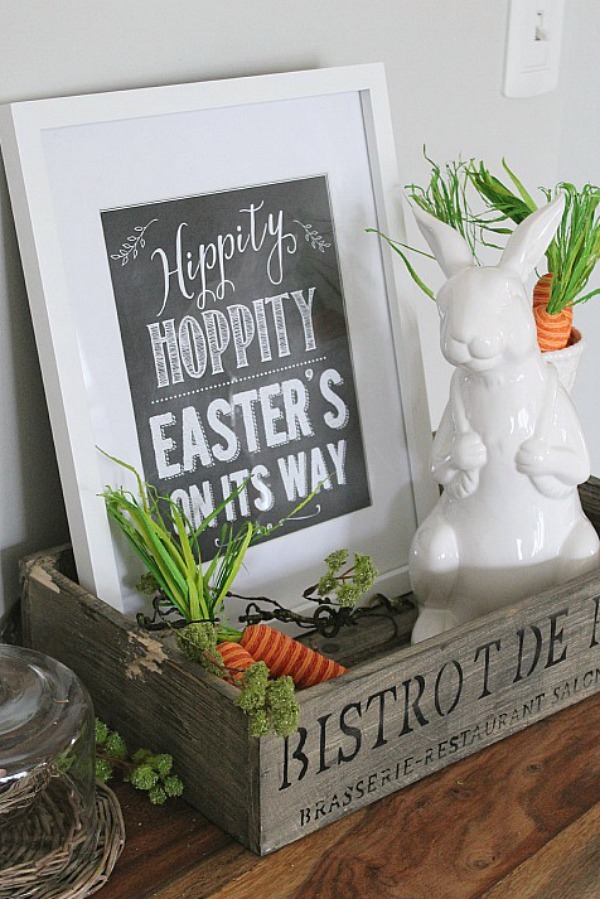 Cute chalkboard Easter printable.