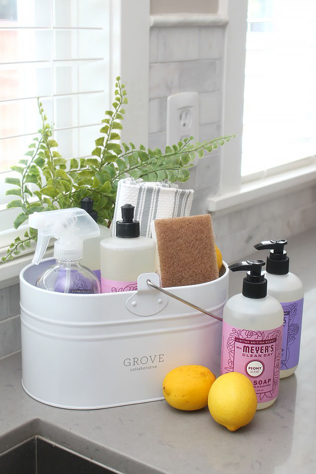 Pretty Kitchen Storage And Spring Cleaning Products