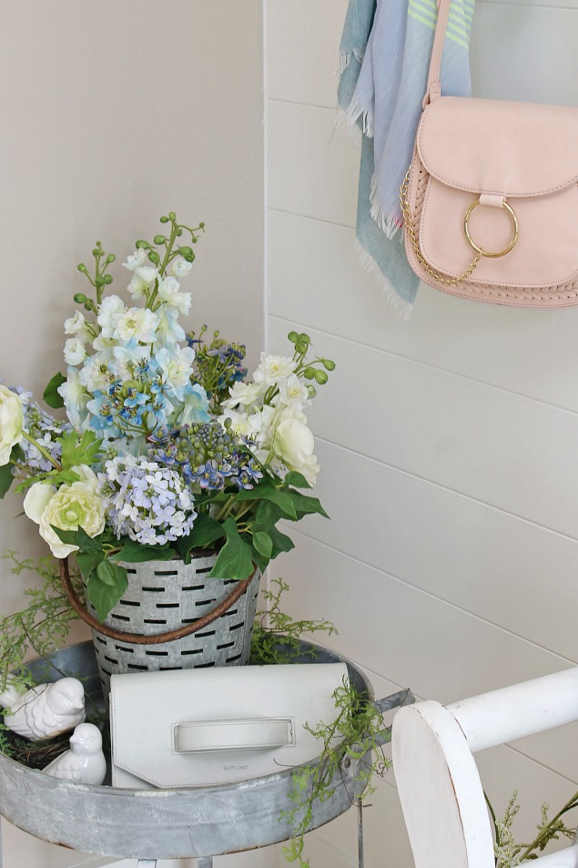 A Springtime Prelude Decorating With Faux Flowers Clean And