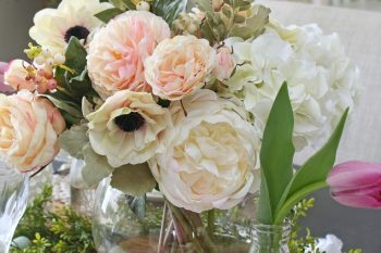A Springtime Prelude – Decorating with Faux Flowers