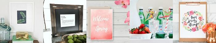Free Spring Printables.