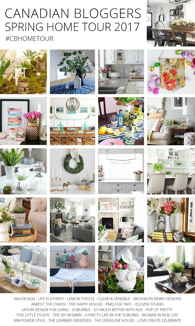 Gorgeous spring home tours with beautiful Easter and spring decorating inspiration!